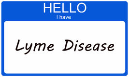 Hello I have Lyme Disease Stock Photos