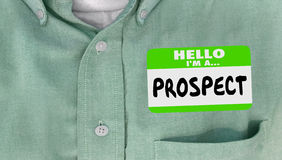 Hello I am a Prospect New Customer Name Tag Royalty Free Stock Photos