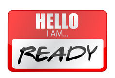 Hello I am ready tags. Illustration Stock Photography