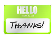 Hello I Want To Say Thank You. Illustration design Royalty Free Stock Images