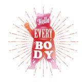 Hello iedereen! Draag silhouet Royalty-vrije Stock Fotografie