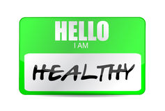 Hello im healthy name tag illustration design Royalty Free Stock Photos