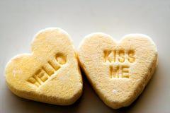 Hello kiss me royalty free stock photography