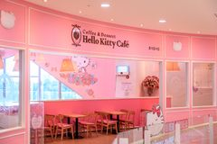 Hello Kitty海岛,其中一个10月的最普遍的旅游胜地 免版税库存照片
