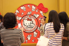 HELLO KITTY 40 anniversary world tour Royalty Free Stock Photos