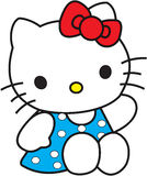 Hello Kitty blue dress Stock Photos