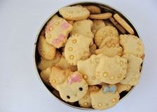 Hello Kitty cookies in a box Royalty Free Stock Images