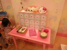 Hello Kitty Desk Royalty Free Stock Photography