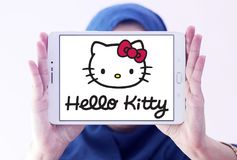Hello Kitty-embleem stock foto