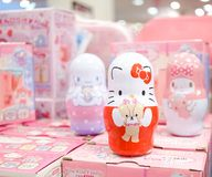 Hello Kitty and friends candy cabinets royalty free stock photography