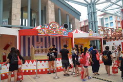 Hello Kitty Go Around Singapore Game Kiosk Booth Stock Image