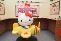 Hello Kitty Go Around Singapore Post kontor Royaltyfri Foto