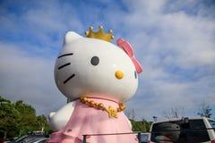 "Hello Kitty Island †""als thema had museum op 7 Oct, 2017 in Jeju-eiland royalty-vrije stock foto"