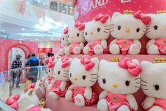 Hello Kitty Island, one of the most popular tourist spots on oct. 5, 2017 in Jeju Island, South Korea royalty free stock images