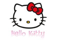 Hello Kitty logo royaltyfri illustrationer