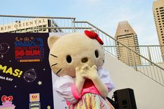 Hello Kitty Run Singapore 2015 Mascot Stock Photos