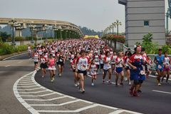 Hello Kitty Run Singapore 2014 Sentosa Stock Photo