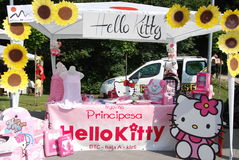Hello Kitty stand Stock Images