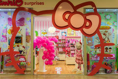 Hello Kitty Store Fotografering för Bildbyråer