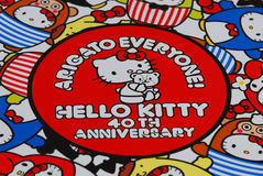 Hello Kitty 40th årsdagtryck Royaltyfria Foton