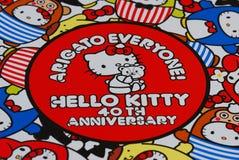 Hello Kitty 40th Rocznicowy druk zdjęcia royalty free