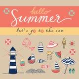 Hello-kleurrijke de zomer Royalty-vrije Stock Foto