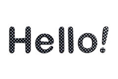 Hello lettering. A hello banner made of rubber letters Royalty Free Stock Photo