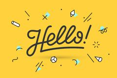 Hello. Lettering for banner Royalty Free Stock Photography