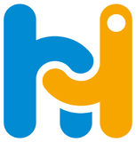 Hello logo Arkivbild