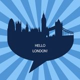 Hello London Emblem, The United Kingdom Stock Images