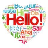 Hello Love Heart word cloud Stock Photo