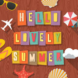 Hello lovely summer travelling background Stock Image