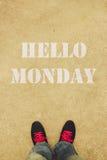 Hello-Maandag royalty-vrije stock afbeeldingen