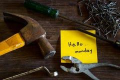 Hello-Maandag Royalty-vrije Stock Foto