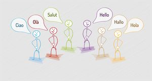 Hello in many languages Royalty Free Stock Photos