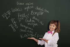 Hello in many languages Stock Photography