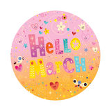 Hello March greeting card Royalty Free Stock Photos
