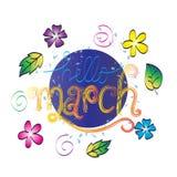 Hello March vector illustration