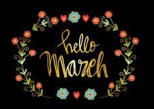 Hello March royalty free illustration