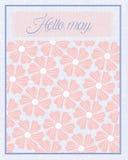 Hello May att blomma texturmodellbakgrund Fotografering för Bildbyråer