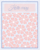 Hello May Flower texture pattern background Stock Image