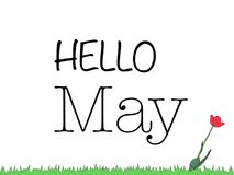 Hello may. Hello spring May is one of the most beautiful months, and not just because I was born very nice people this month. The fifth month of the year is Royalty Free Stock Image