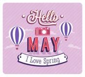 Hello may typographic design. Stock Photo