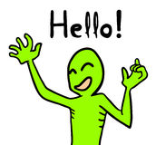 Hello message Stock Images