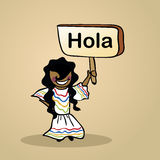 Hello from Mexico people design royalty free illustration