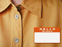 Hello is mijn naam Stock Afbeeldingen