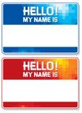 Hello mijn naam is kaart Royalty-vrije Stock Afbeelding