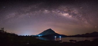 Hello Milky Way, Lam Isu, Kanchanaburi, Thailand Stock Photos