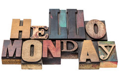 Hello Monday typography abstract Stock Photos