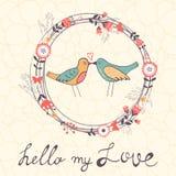 Hello my love card Royalty Free Stock Image